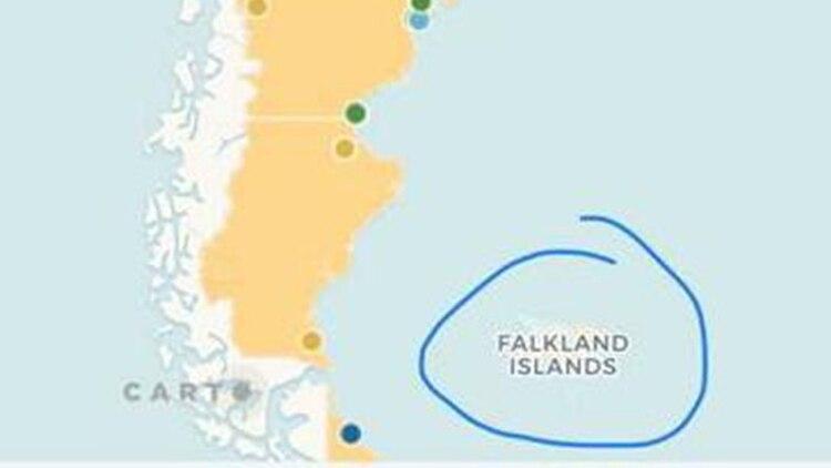 Islas Malvinas Mapa Mundi.Polemica Por Un Mapa De La Web Oficial De La Secretaria De