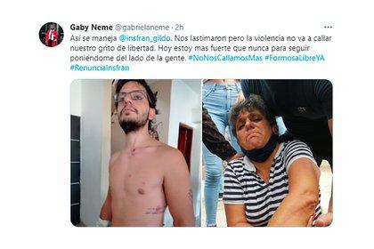 Tuit de la mujer tras ser atacada