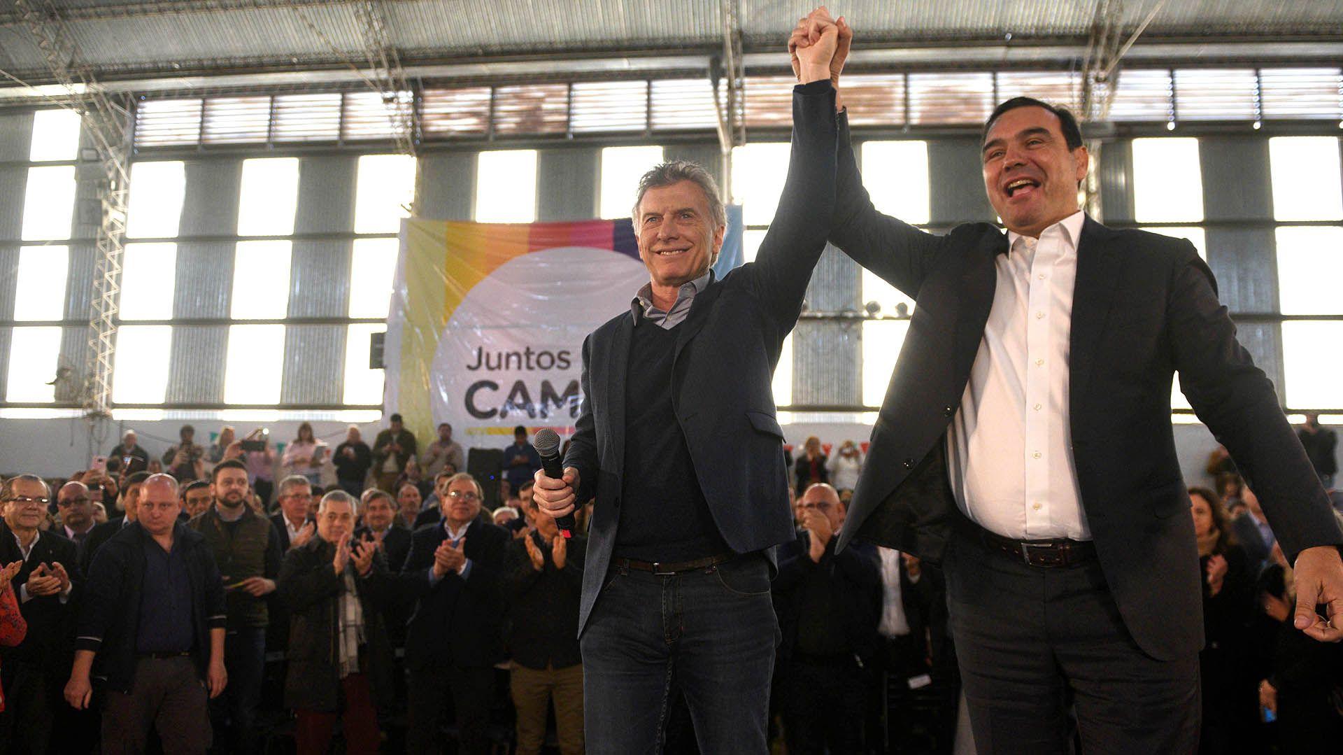 Gustavo Valdés se alejó de Mauricio Macri y ahora se acerca al jefe de Gobierno porteño, Horacio Rodríguez Larreta (Prensa Juntos Por El Cambio)
