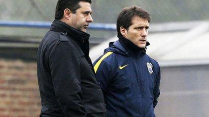 Daniel Angelici y Guillermo Barros Schelotto