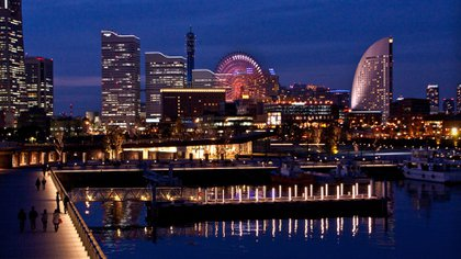 Es la segunda ciudad de Japón más poblada gracias al puerto que atrajo a decenas de turistas