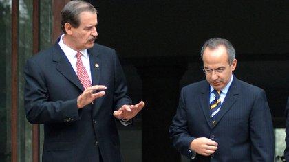Calderón sucedió a Fox en el cargo, ahora está por verse si son llevados a juicio por consulta popular (Foto: Archivo)