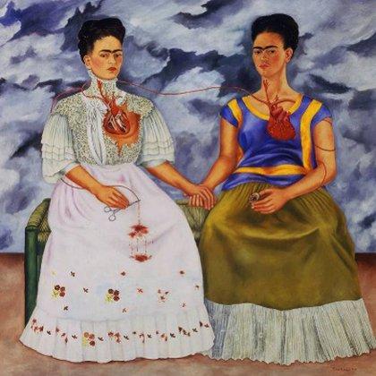 Las Dos Fridas (Foto: Sitio Web Museo Frida Kahlo)