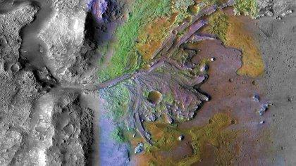Un lago en Marte es fotografiado por una sonda de la NASA (AFP)