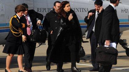 Cristina Fernández de Kirchner fue la última en utilizar el Tango 01 que el gobierno de Mauricio Macri declaró en desuso.  Télam 162