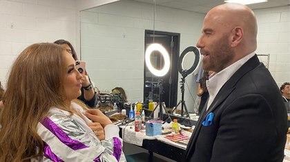 Thalia narra su encuentro con John Travolta (Foto: Instagram@tommymottola)