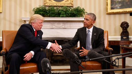 Donald Trump se reunió con Barack Obama el jueves (AP)