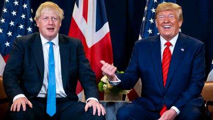Boris Johnson y Donald Trump.