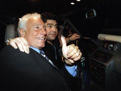 Guillermo Cóppola y Diego Maradona