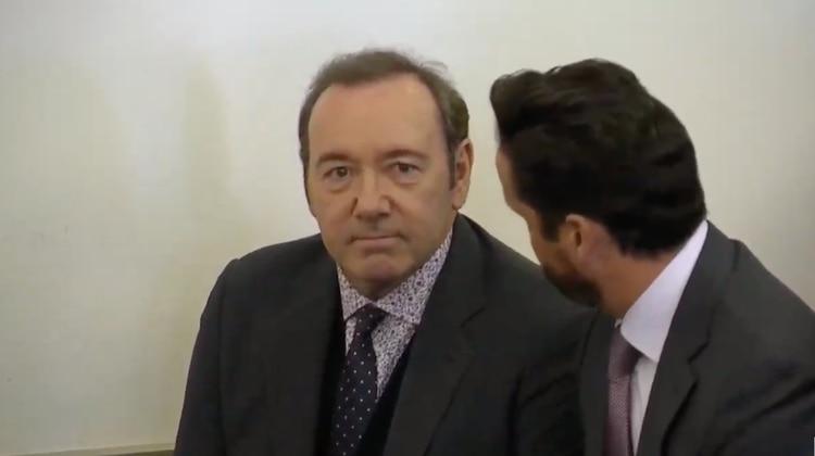 Spacey durante una comparecencia en uno de los juicios en su contra por acoso sexual