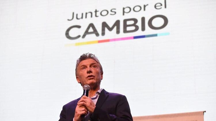 Macri en el cierre del acto en Parque Norte