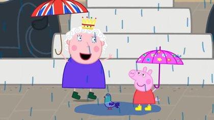 La reina Isabel y Santa Claus, los únicos personajes humanos que aparecen en la serie