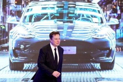 Elon Musk en una presentación de Tesla en Shanghai, China. REUTERS/Aly Song/File Photo