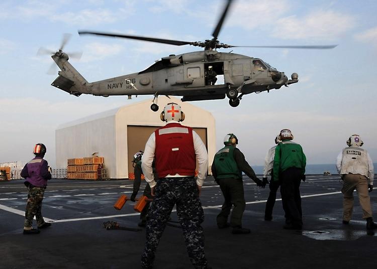 El USNS Comfort cuenta con un helipuerto