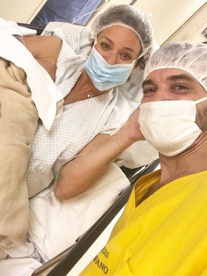 La foto que publicó Pedro Alfonso para anunciar la llegada de Filipa