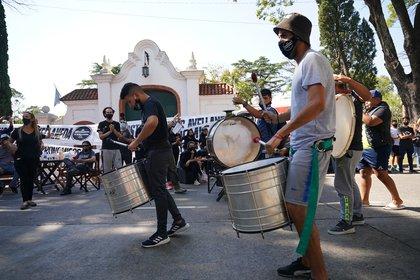 La protesta comenzó a las 10 de la mañana (Franco Fafasuli)