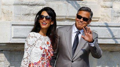 George Clooney y Amal Alamuddin (Reuters)