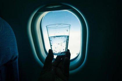 Un estudio realizado en aerolíneas estadounidenses reveló que hay muchas compañías aéreas que sirven agua no saludable (Shutterstock)