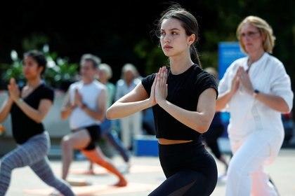 Clase de yoga en Bruselas