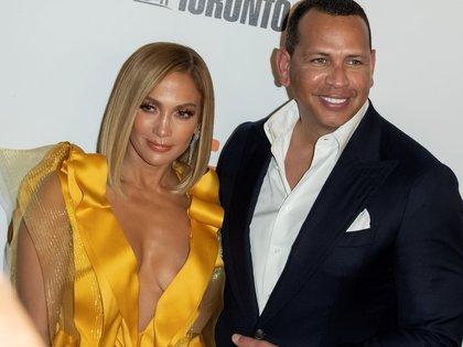 La cantante Jennifer Lopez y su pareja, Alex Rodriguez (EFE)
