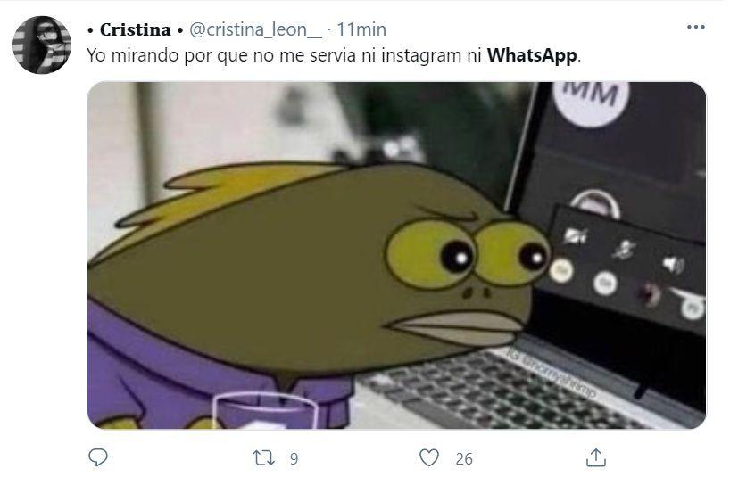 meme caída whatsapp instagram facebook