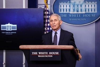 Anthony Fauci, principal epidemiólogo de la Casa Blanca (Reuters/ Jonathan Ernst)