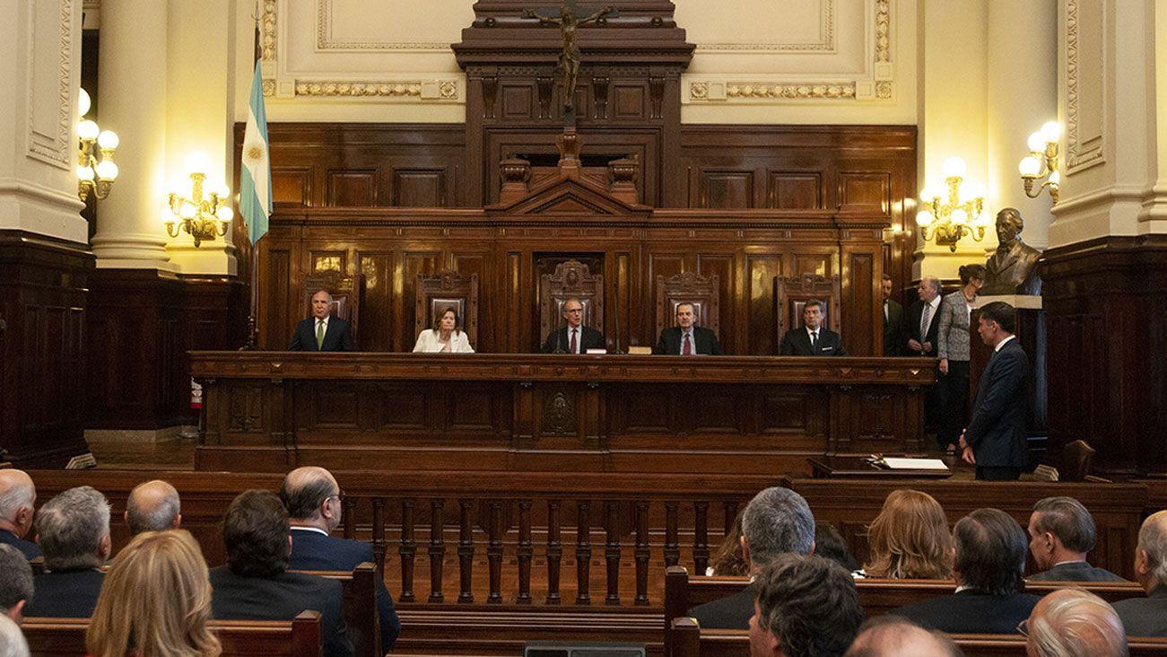 Los ministros de la Corte Suprema de Justicia