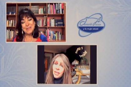 Verónica Castro habló con Janett Arceo de las acusaciones contra su hijo Cristian (Captura de pantalla YouTube)