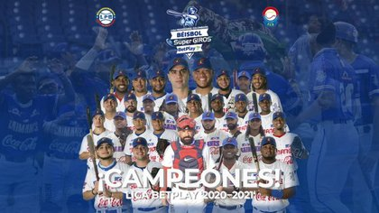 Caimanes de Barranquilla, Campeones Liga Profesional de Beisbol 2021. Cortesía Liga profesional de Beisbol Colombia