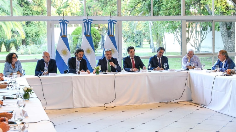 En el encuentro que se realizó en la Quinta de Olivos estuvieron los principales ministros del Gabinete (Presidencia)