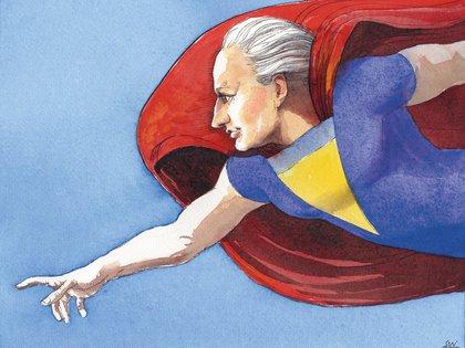 Súper Goethe, en una ilustración del genial Siegfried Woldhek