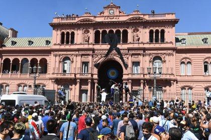 Incidentes en el ingreso a Casa Rosada (Foto: Maximiliano Luna)