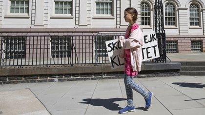 Todo comenzó a mediados de 2018 cuando decidió faltar al colegio en protesta por el cambio climático (EFE)