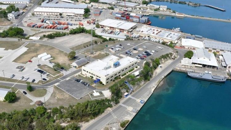 Imagen aérea de la base naval de Guantánamo, en Cuba