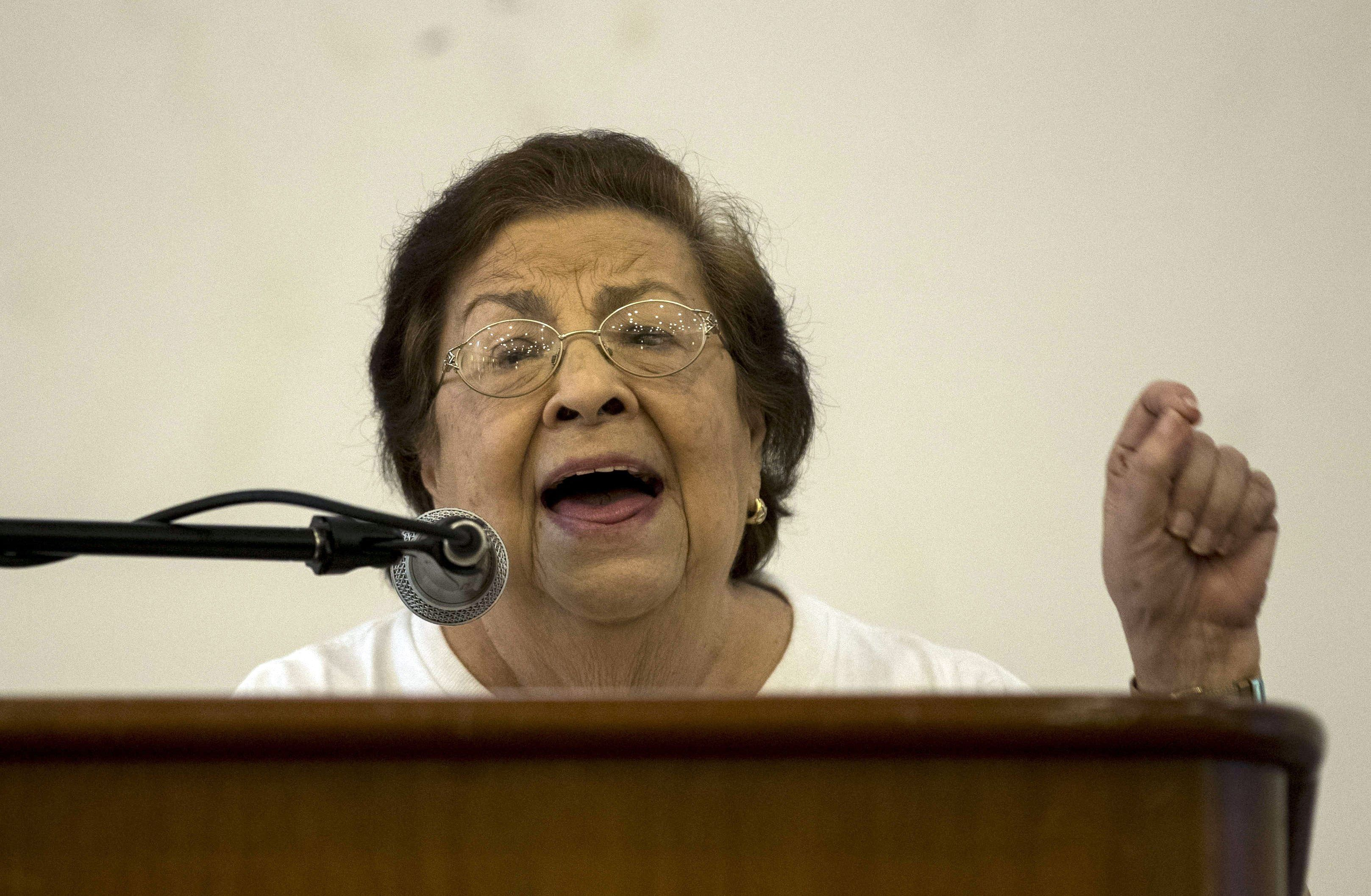 La presidenta del Centro Nicaragüense de Derechos Humanos (CENIDH), Vilma Núñez. EFE/Jorge Torres/Archivo
