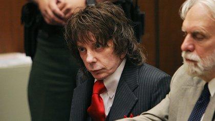 Phil Spector en una corte de Los Ángeles durante el juicio por el asesinato de la actriz Lana Clarkson (Reuters/ Robyn Beck/ archivo)
