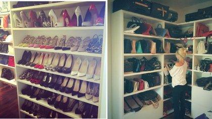Wanda Nara publicó en su Instagram fotos de su vestidor con cientos de zapatos y carteras de autor