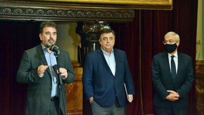 Cristian Ritondo, Mario Negri y Álvaro González, de Juntos por el Cambio