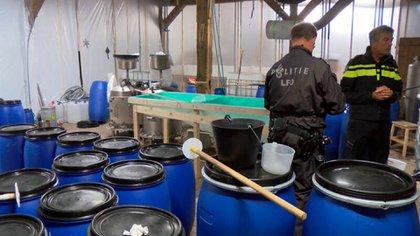 Un laboratorio de cocaína en Holanda