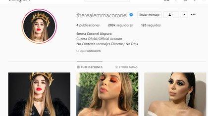 Emma Coronel recibió recientemente la verificación de su cuenta de Instagram (Foto: captura de pantalla)