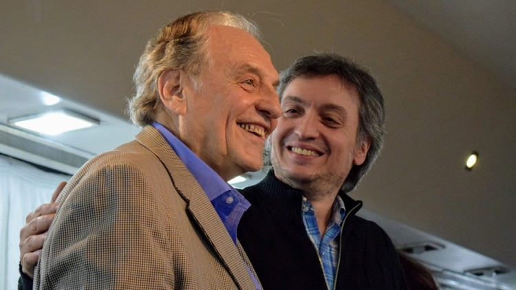 Carlos Heller y Máximo Kirchner, del bloque del Frente de Todos