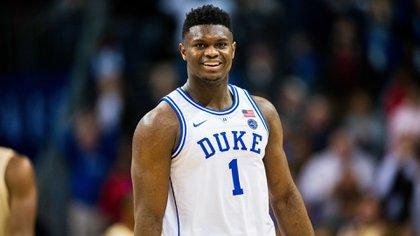 Williamson con la número 1 de la Universidad de Duke. Ahora será el turno de usar la misma camiseta con los Pelicans en la NBA
