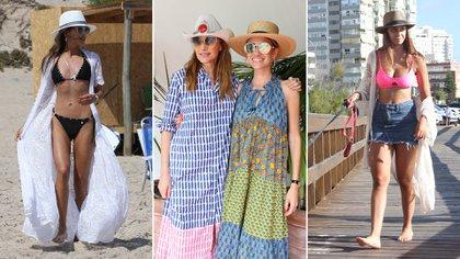 Agustina Casanova, Vero Lozano, Angie Landaburu y Nai Awada con las últimas tendencias en sombreros 2020 en Punta del Este (Foto: GM Press)