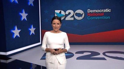 Fotograma de la actriz Julia Louis-Dreyfus durante el último día de la Convención Nacional Demócrata en Milwaukee, Wisconsin, (EE.UU.), hoy 20 de agosto de 2020. EFE / EPA / DNCC