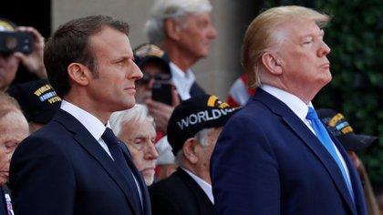 Donald Trump y Emmanuel Macron se encontrarán esta semana en la cumbre de la OTAN, en Londres (REUTERS/Carlos Barria)