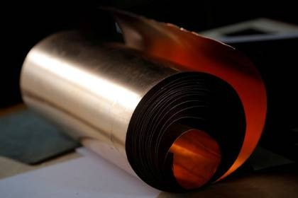 FILE PHOTO: A copper roll that will be used for drawings is seen at the workshop of the artist Ricardo Moreno in San Pedro de Barva, Costa Rica October 23, 2017. REUTERS/Juan Carlos Ulate/File Photo