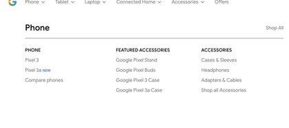 Los accesorios que acompañarán el lanzamiento de los dispositivos (Foto: Google Store)