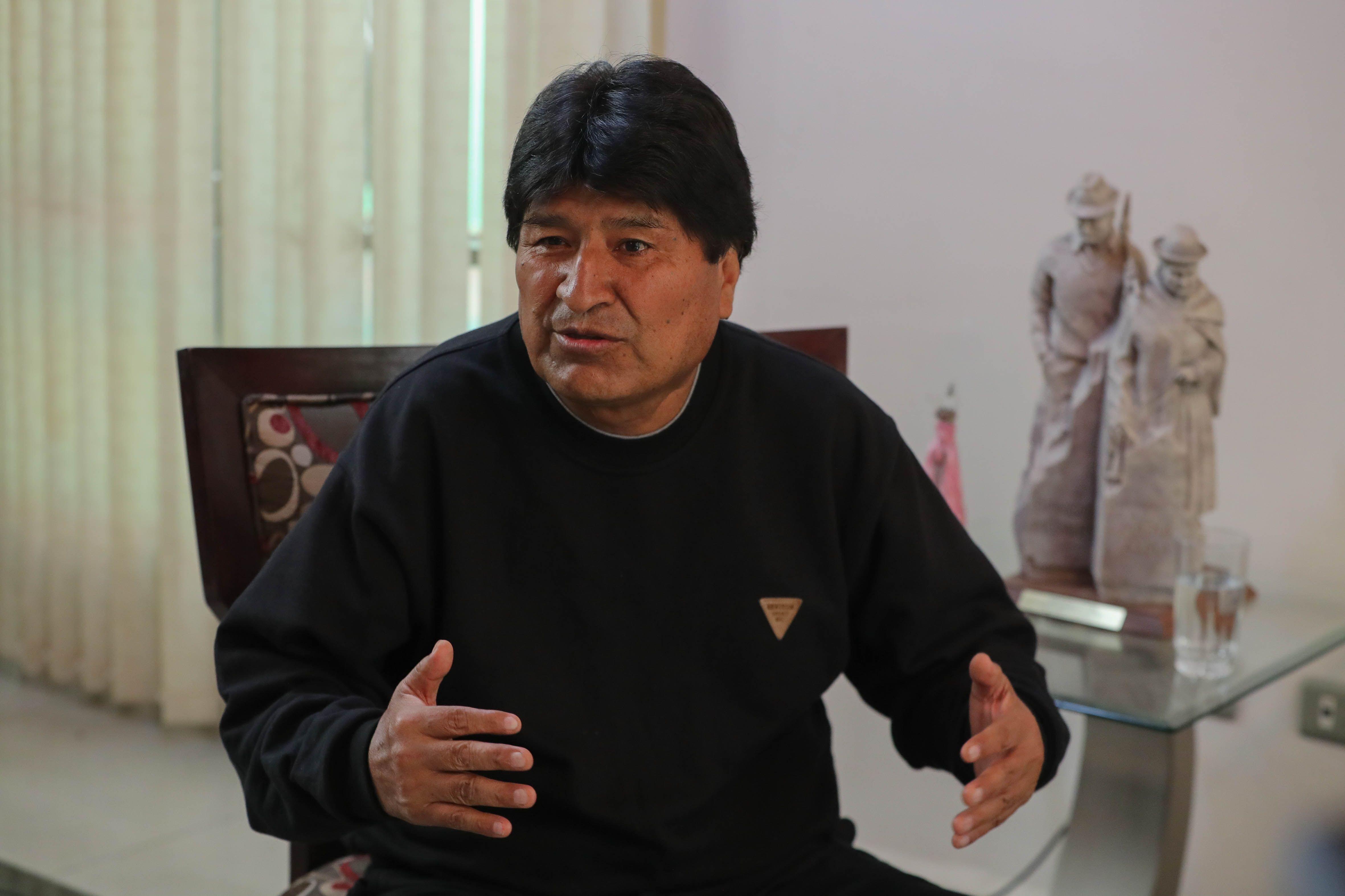 El ex presidente de Bolivia, Evo Morales, acusa a la OEA de golpe de Estado (EFE/Martín Alipaz)