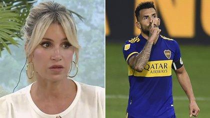Polémico tuit de Florencia Peña contra Carlos Tevez en medio del Superclásico