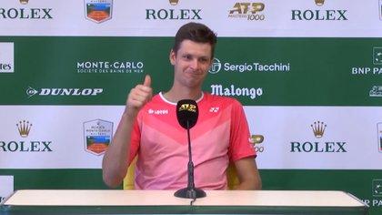 Es el 16° del mundo, fue campeón en el Masters 1000 de Miami hace unos días y pasó la rueda de prensa más incómoda de su carrera